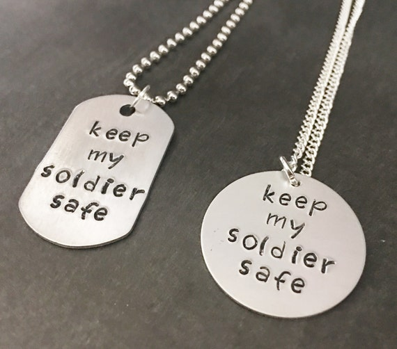 Army Couple Jewelry Deployment Gifts Keep My Soldier Safe | Etsy