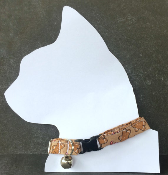 Collier de Noël collet - animal de compagnie avec étiquette d'identification - Noël chat pour chats - collier avec le nom de chat - personnalisé collier avec prénom - petit chien
