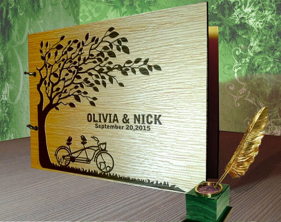 Guestbook Matrimonio Rustico : Guest book matrimonio rustico guestbook wood