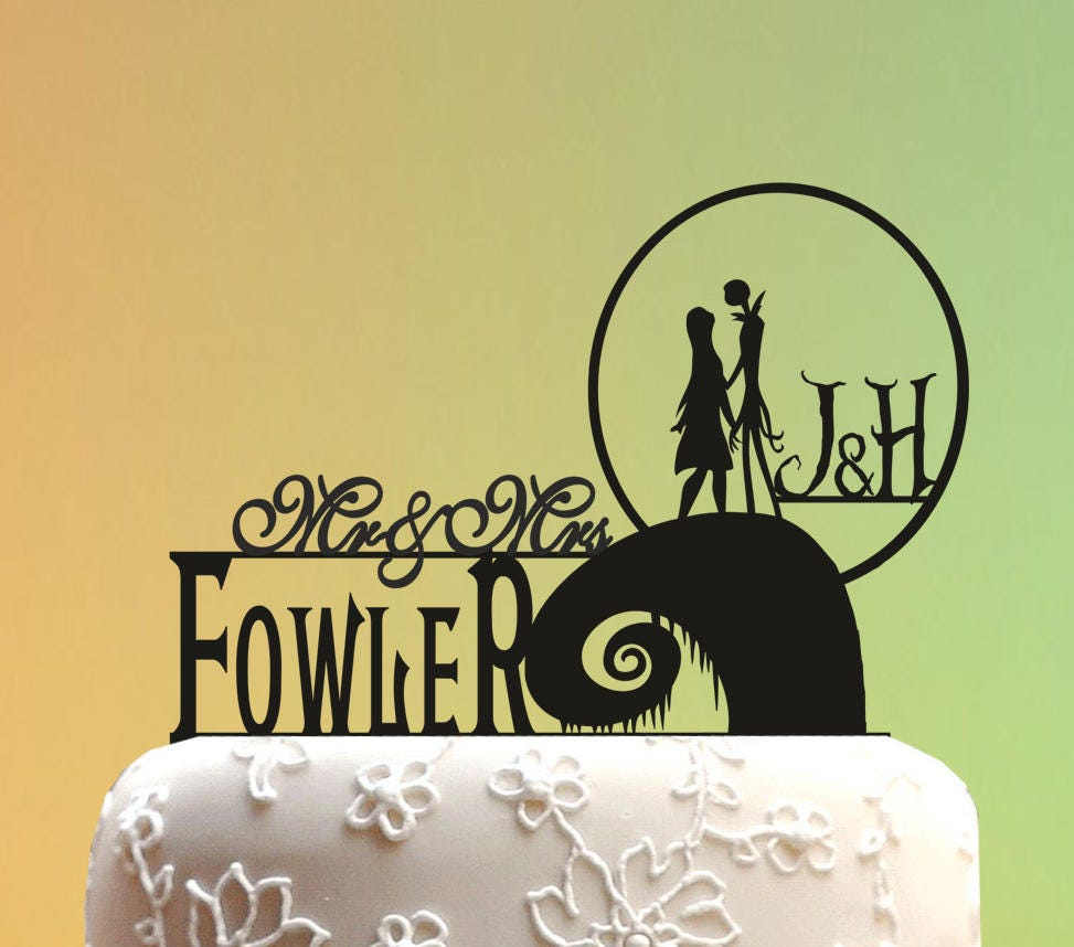 Wedding Cake Topper jack and sally cake topper Wedding | Etsy