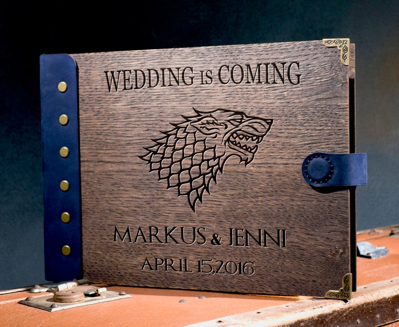 Game of Thrones Wedding Guest Book    Personalized Game of image 0