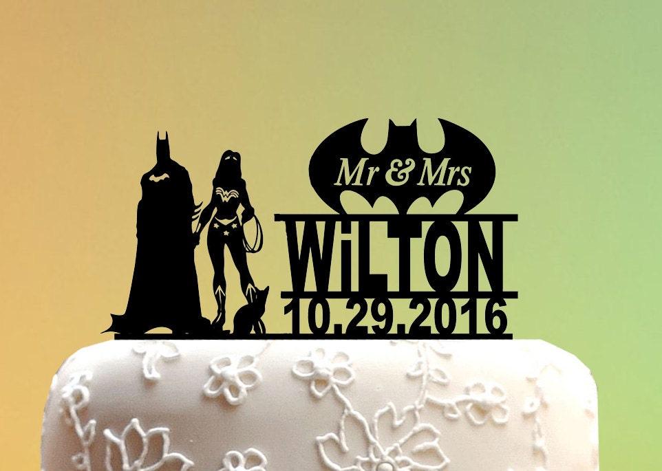 Wedding Cake Topper Super woman cake topper Batman Wedding | Etsy