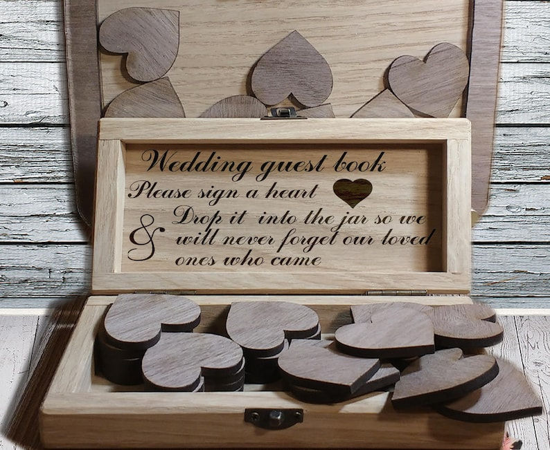 Wedding Guest Book   Wedding guest book Drop Box  Alternative wedding gift   wedding gift   Guest Book Alternative