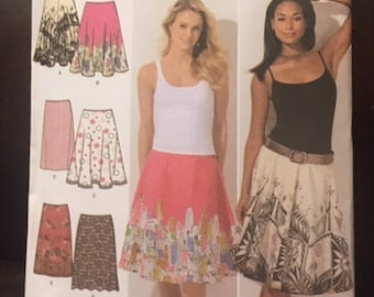 Simplicity #4236 - Misses' Skirt, Full and Half Circle Skirt - Sizes 6-14 - Paper Pattern