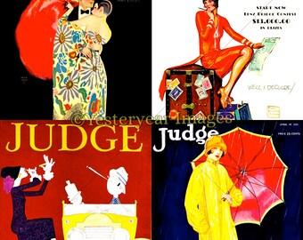 cb234e5cabe5bd Vintage JUDGE MAGAZINE Covers - Printable Digital Images - Instant Download  - 3 PNG Files 4x4. 2x2. 1x1