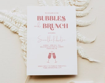 Bridal Brunch Invitation, Bridal Shower Invitation Template, Modern Bridal Shower Invitation Instant Download