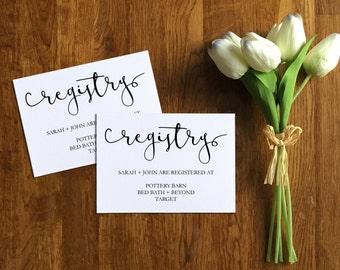 Printable Registry Card, Invitation Registry Card Template, Wedding Registry Insert Card, Editable, PDF, Instant Download, PPS02