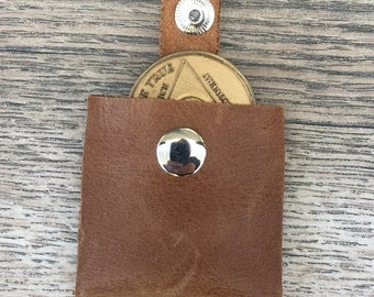 Leather coin holder | Etsy