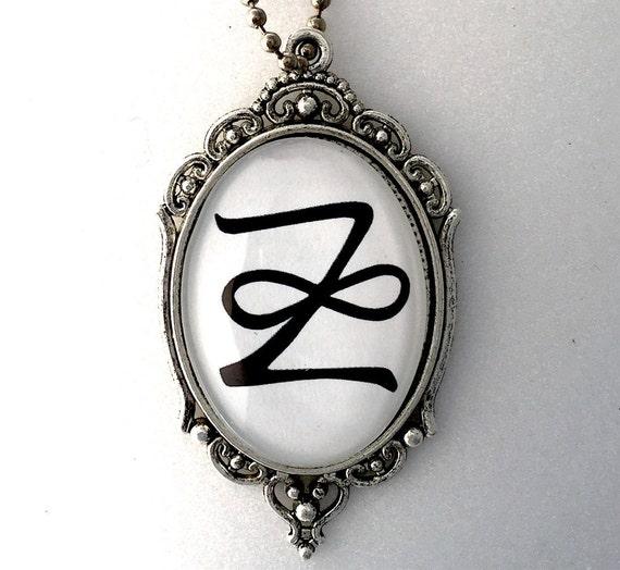 Zonar Reiki Symbole Pendentif 2 Faces Avec Les Principes De Etsy
