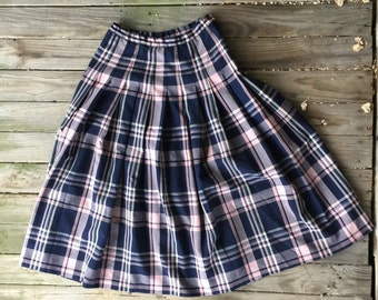 b40e928ba 6 Pendleton blue pink plaid pleated skirt