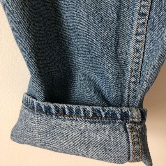 Distressed 505 vintage 36 Levis jeans 90s - image 5