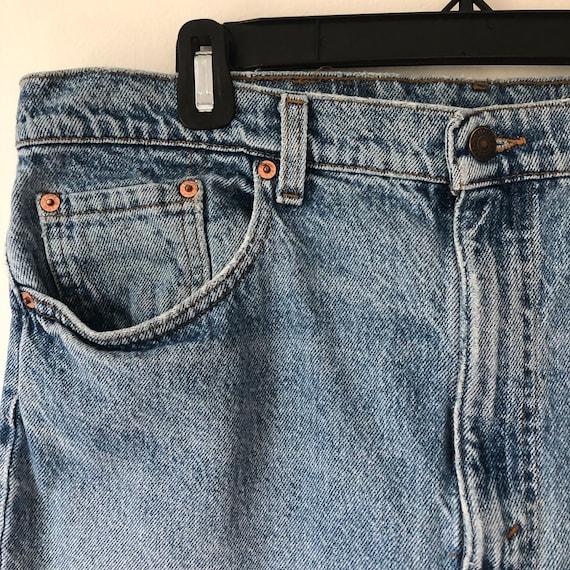 Distressed 505 vintage 36 Levis jeans 90s - image 6