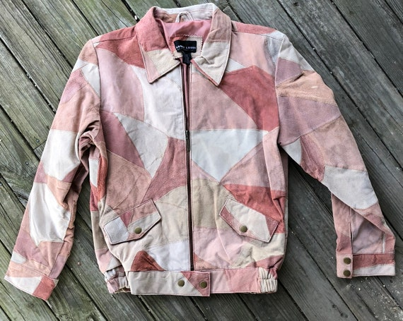 Patchwork Suede Leather Jacket