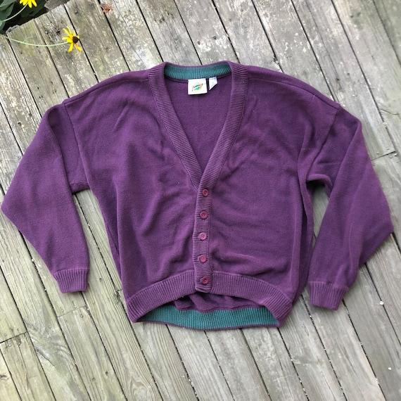90s Box Fit Oversized Cardigan Sweater