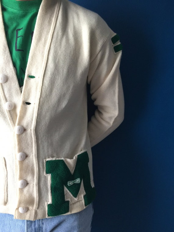 "Vintage Varsity letter sweater ""M"", small"