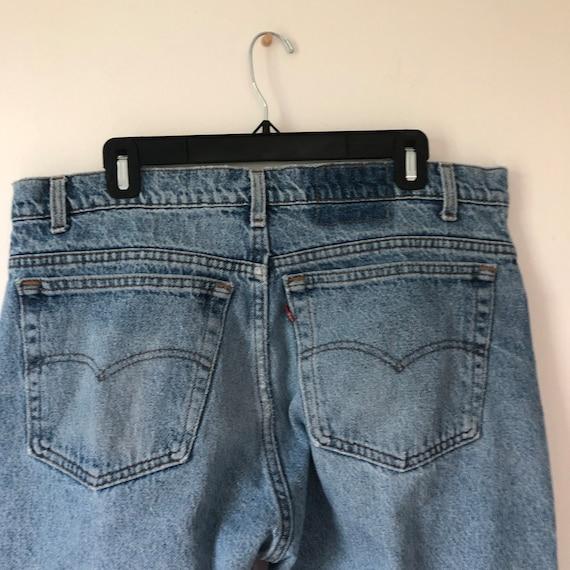 Distressed 505 vintage 36 Levis jeans 90s - image 8