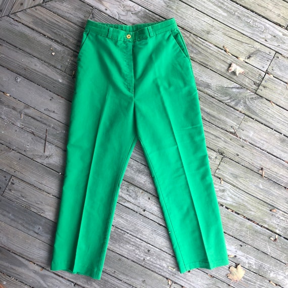 28 green 70s vintage highwaisted chino style Wrang