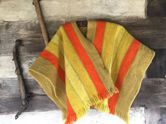 60's/70's wool Poncho