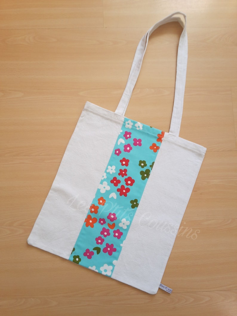 fish colorful patterns boat shopping bag flowers seventies moustache beach bag exotic or fashion Tote bag