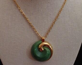 Crown Tafari Faux Jade Pendant