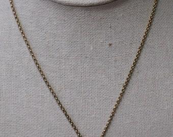 12K GF Van Dell Onyx and Pearl Pendant