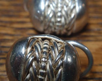 Sterling Designer Ron Rizzo Omego Clip Earrings