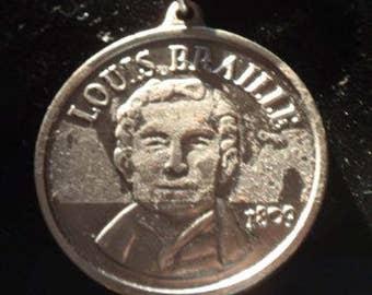 Louis Braille Keychain