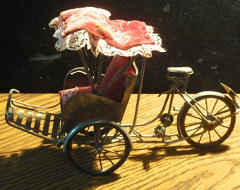 Silver Plated Vietnamese Articulated Rickshaw