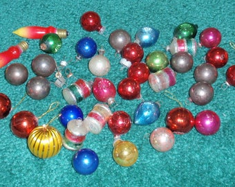 Vintage Miniature Christmas Bulbs