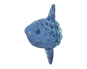Art Print Illustration - Mola Mola Ocean Sunfish