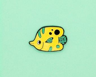 Enamel Pin • Butterfly Fish Soft Enamel Pin