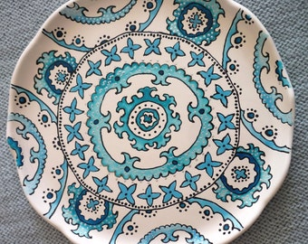 Decorating oriental plate