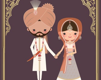 Sikh Indian Wedding Save The Date-Customizable