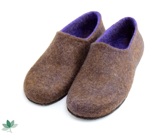 Felted eco slippers, handmade, men's shoes, different colors, wool slippers