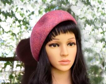 Creative handmade Felted beret, merino wool, french beret, women's beret / Ready to ship