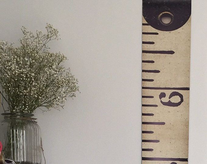 Vintage Inspired Tape Measure Hanging Height Chart, Ruler Growth Chart, Imperial Height Chart, Ruler, Feet HIGH QUALITY BANNER