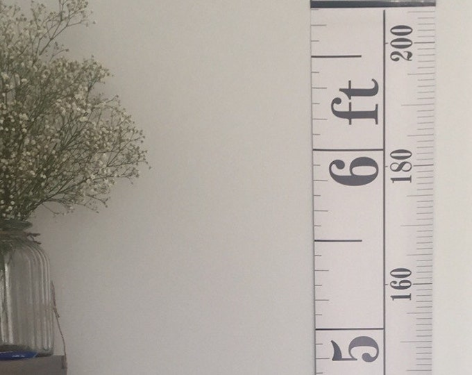 Monochrome Tape Measure Height Chart, Ruler Growth Chart, Imperial & Metric Height Chart, HIGH QUALITY BANNER