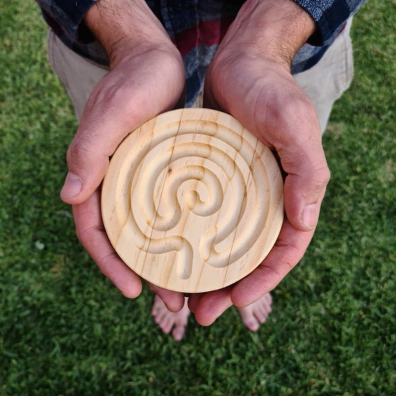 Mini Small Celtic Shaped Finger Labyrinth, Calming Device, Meditation Tool, Fidget Toy, Classroom Tool