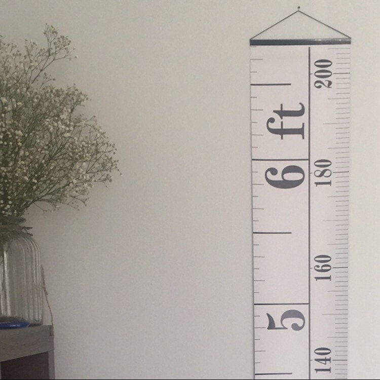 Monochrome Tape Measure Height Chart Ruler Growth Chart Imperial