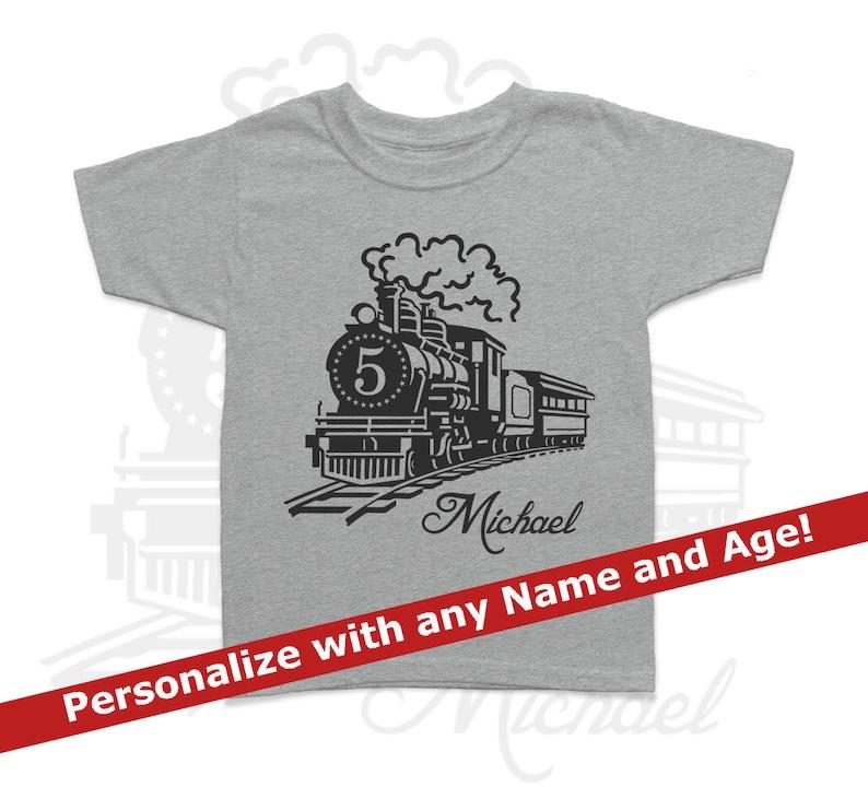 Train Shirt Birthday Personalized Shirt Kids Birthday Shirt image 0