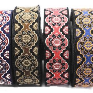 0.98inc costume ribbon sewing trim 25mm Red embroidered ribbon Jacquard ribbon Jacquard trim Decorative ribbon 25708 Craft Ribbon