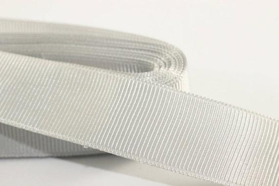 New, GREY Grosgrain Ribbon 10 meters 12mm wide