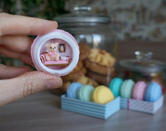 Travel toy House-Cookies Macaroon with Teddy Bear