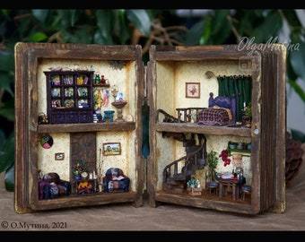 TO ORDER  Miniature book-dollhouse