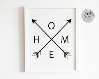Decorative wall art design Crossed over arrows Poster Copper Arrow Print