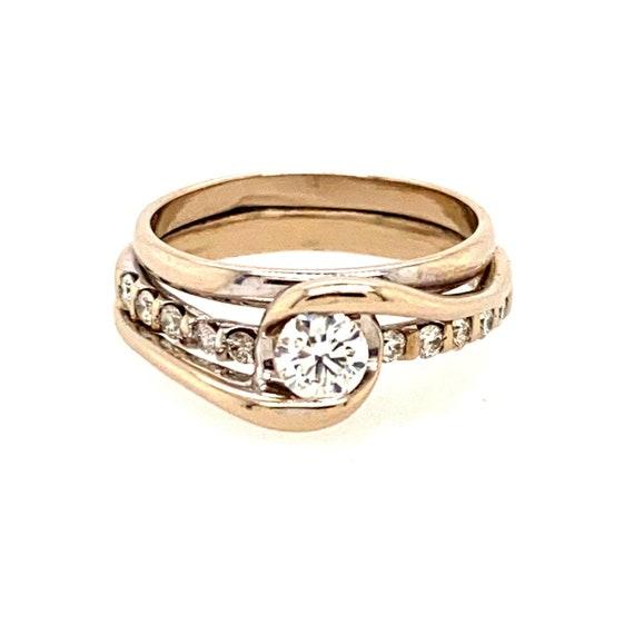 14k Sirena  Bypass 5/8th TCW Diamond Ring