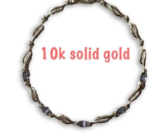 10k Tanzanite Bracelet