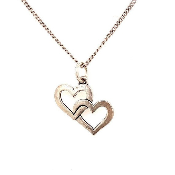 Retired James Avery Cupid Hearts Necklace