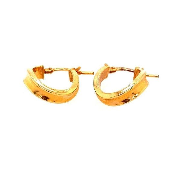 14k Oval Hoops Earrings