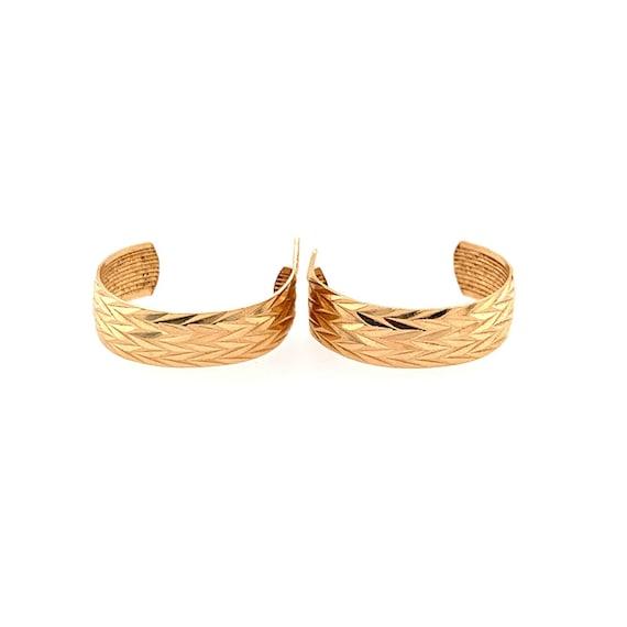 14k Half Hoops Earrings